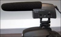 Externe mic op spiegelreflex camera
